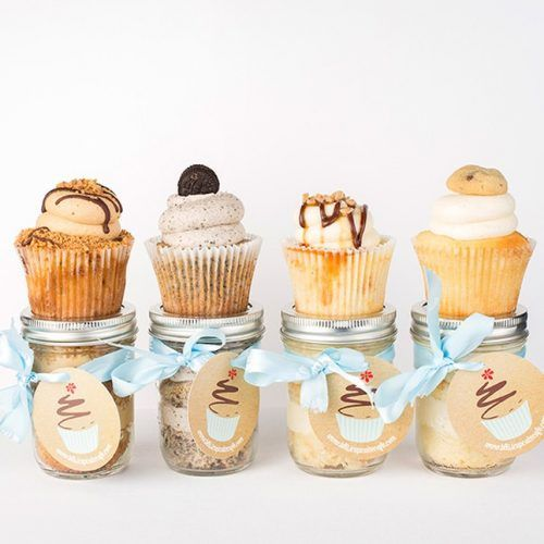 4 Cupcakes in a jar